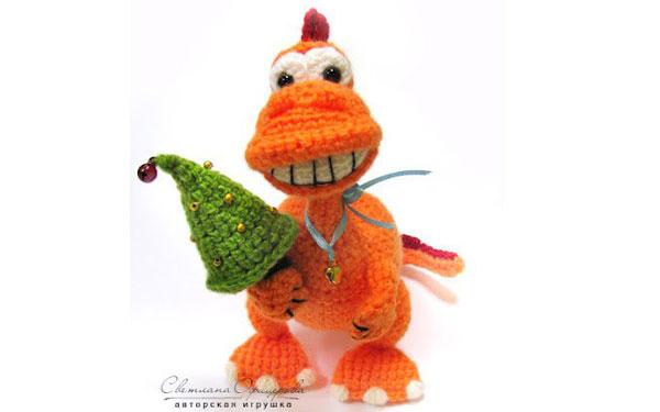 Вязаный Улыбчивый дракон Апельсинка. Схема