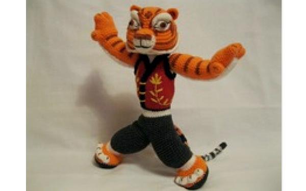 Вязаная тигрица из Панда кунг-фу. Схема