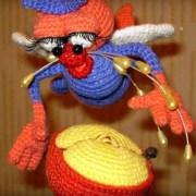 Вязаная крючком Жадная муха. Схема