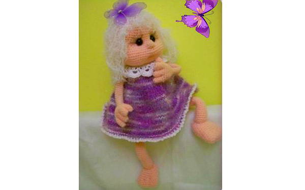 Вязаная кукла Варенька. Схема