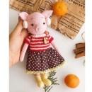 Вязаная Рождественская свинка. Схема