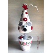 Новогодняя елка-мышь.Крючком