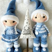 Вязаные куклы Йорис и Джоси