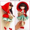 Вязаная кукла Красная шапочка