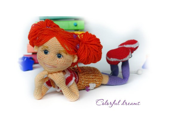 Кукла Рыжее чудо. Крючком