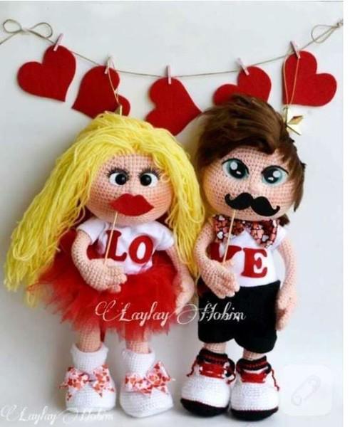 Куклы: девочка и мальчик. Крючком