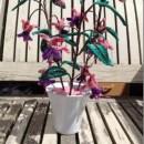 Вязаный крючком цветок фуксия. Схема