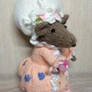 Продаю вязаную спицами мышку