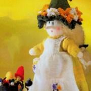 Вязаная ведьмочка Весна. Спицами