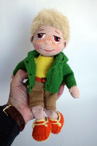 Вязаная кукла Мальчик Артёмка