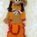 Вязаная крючком кукла Индеец