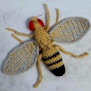 Вязаная крючком муха Дрозофила фруктовая. Мастер-класс
