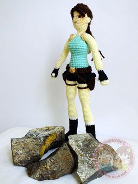 Вязаная кукла Лара Крофт. Схема