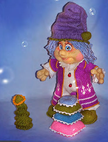 Вязаная кукла Многоспунчик Саша. Мастер-класс
