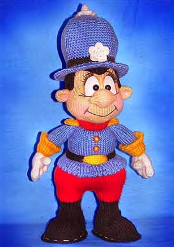 Вязаная кукла Полицейский