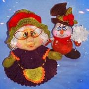 Вязаный снеговик. Мастер-класс