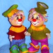 Вязаный клоун Петька. Мастер-класс