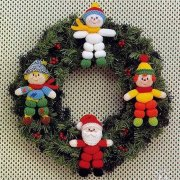 Рождественские куколки малышки. Спицами