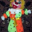 Вязаный крючком клоун Улыбайкин