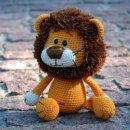 Вязаный крючком лев. Схема