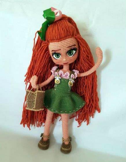 Вязаная крючком кукла Турчанка. Описание