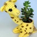 Вязаное крючком кашпо Жираф. Схема
