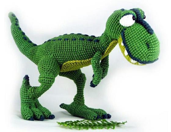 Вязаный крючком динозавр Т-рекс
