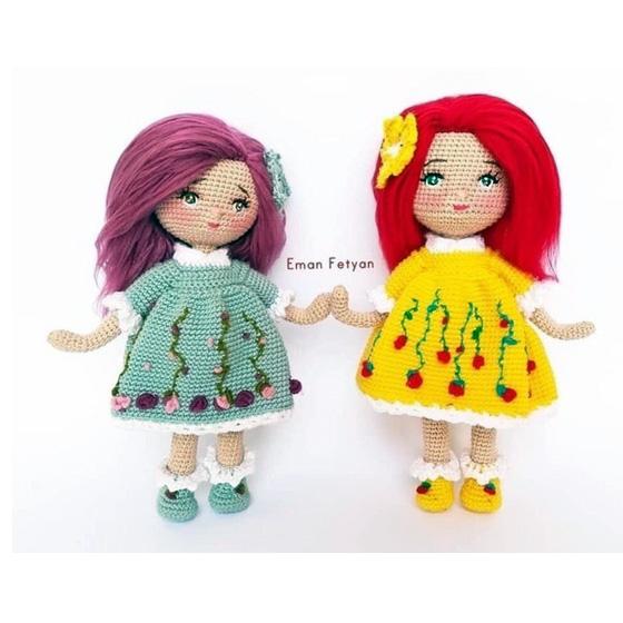 Куколка в платье с вышивкой. Крючком