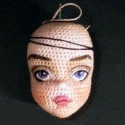 Схема вязания крючком головы куклы