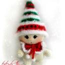 Малыш-гномик Рождественский. Крючком