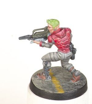 A picture of a painted Nomad Alguacil from Infinity