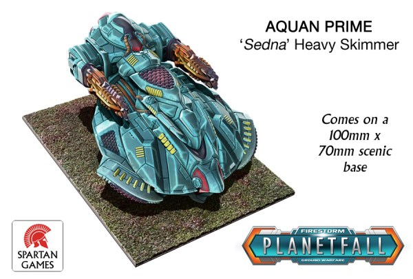 Aquan Heavy Skimmer. Image Copyright Spartan Games, used with permission.