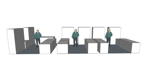 Work Area Re-arrangement