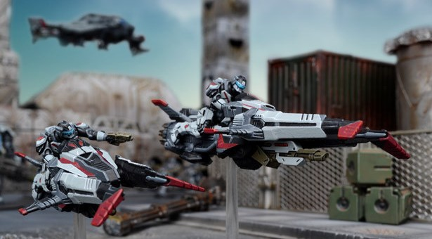 Mantic Warpath Enforcer Jetbikes. Image copyright Mantic Entertainment LLC. Used without permission.
