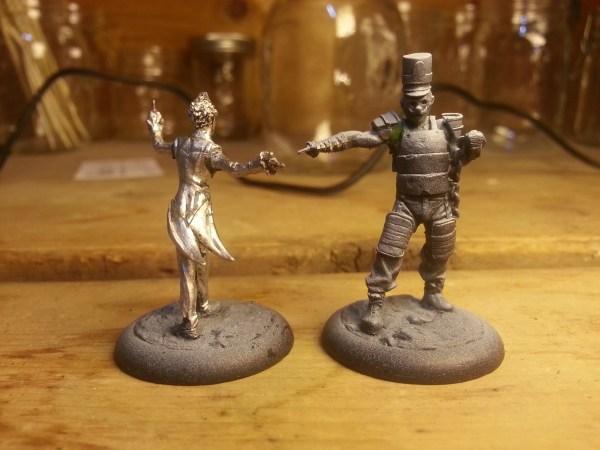 Joker and Ringmaster miniature by Knight Models.
