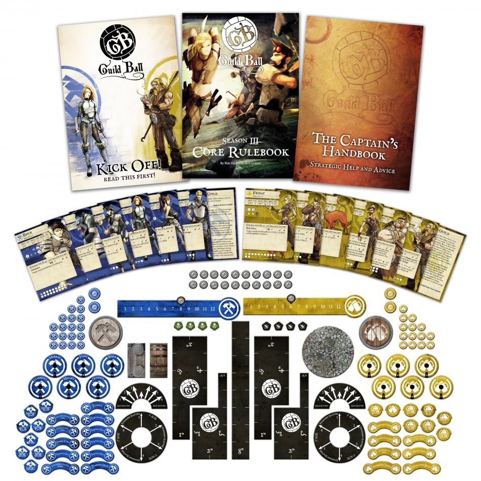 Kick Off! Guild Ball boxed set contents by Steamforged Games Ltd.