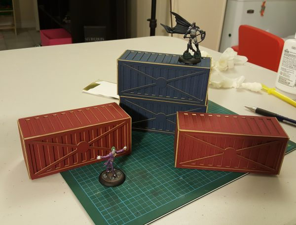 Lasercut Card Shipping Containers