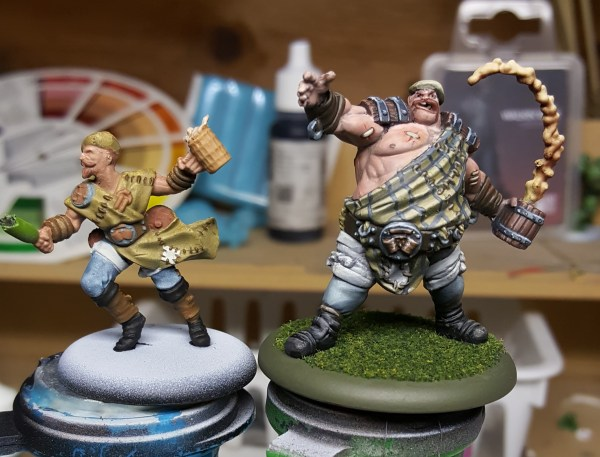 Guild Ball Brewers' Spigot and Stave by Steamforged Games.