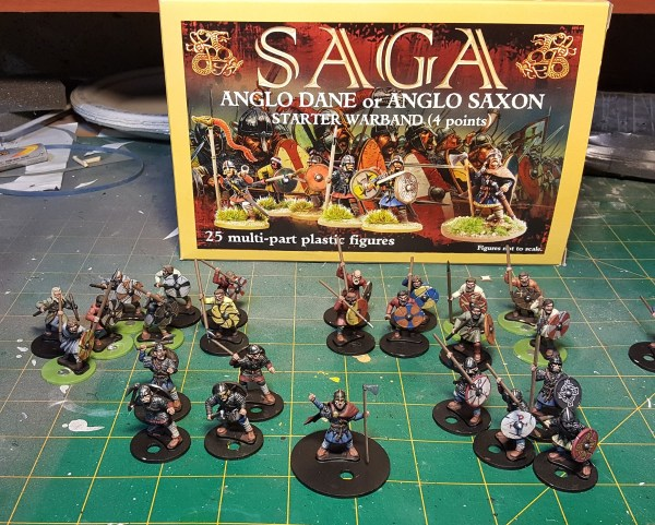 Anglo-Dane 4 Point Warband by Gripping Beast. Painted by Tyler Provick.