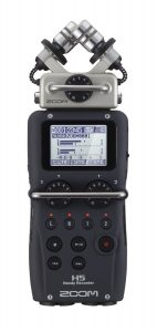 The Zoom H5 voice recorder makes a perfect podcast microphone