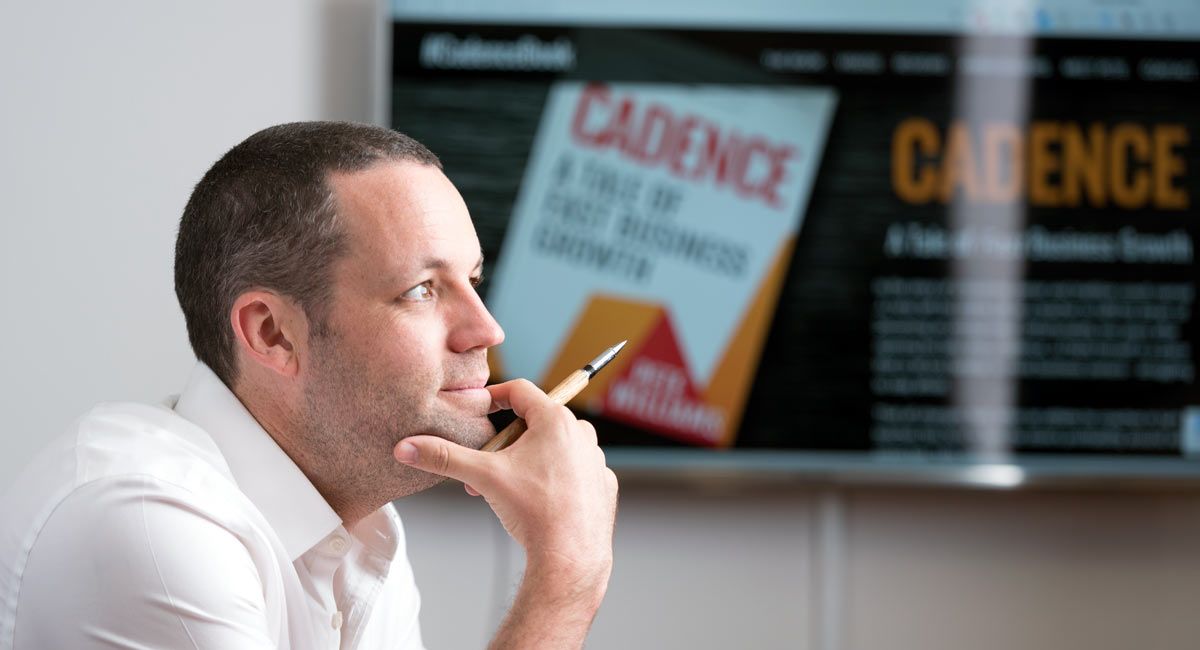 Cadence business strategy book author Pete Williams tells how to double your business profits and growth with small attainable steps
