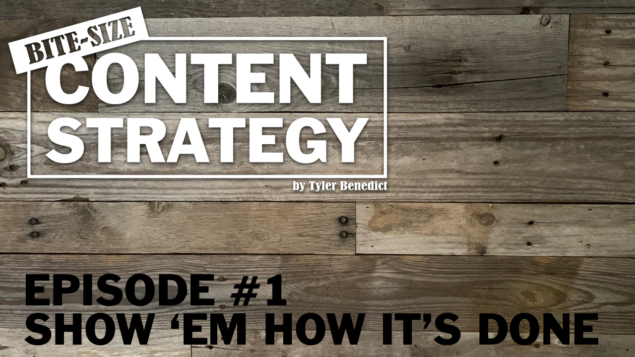 Bite Size Content Strategy #1 – Show them how it's done