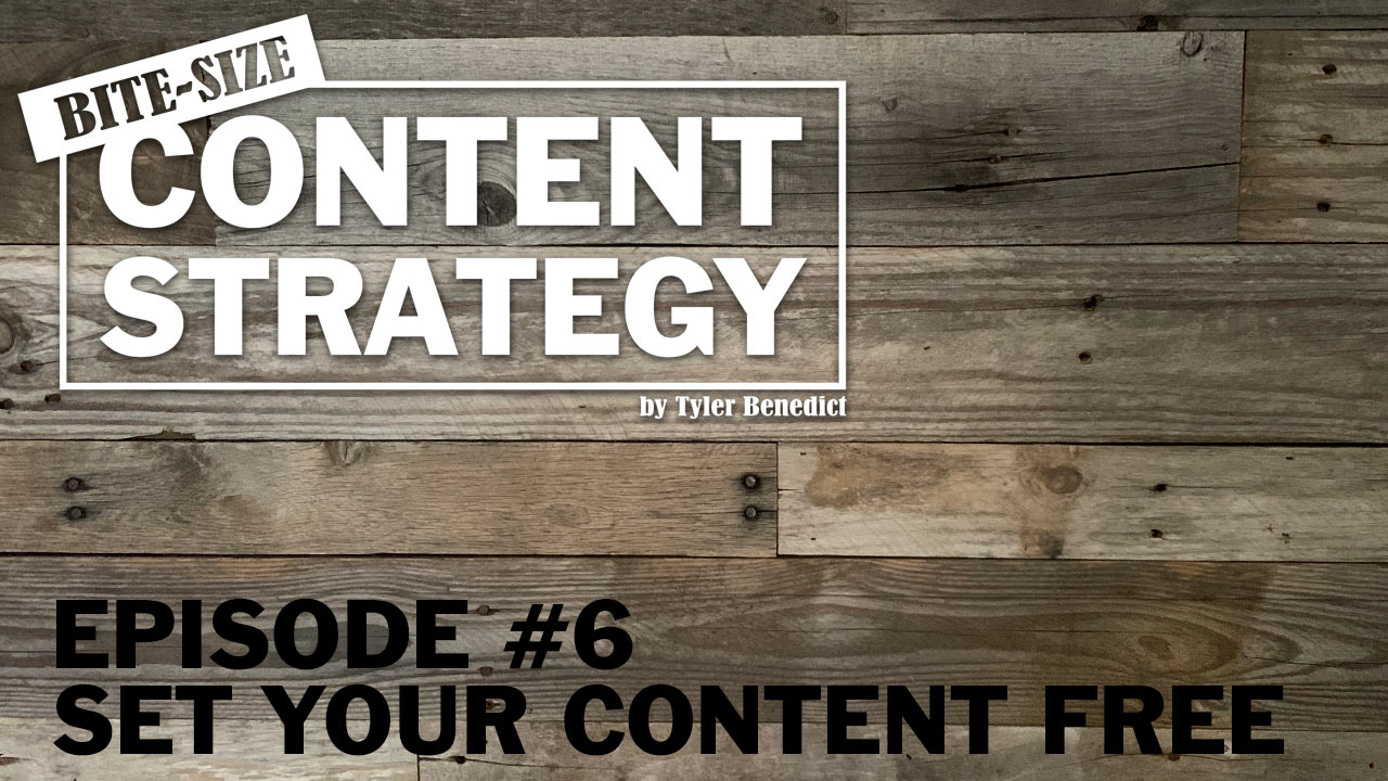 Bite Size Content Strategy #6 – Set your content free