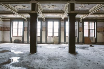 (Fig.7) What resided inside of the post office, derelict for years. It is safe to say the building is going to need a lot of work to be ready for January.