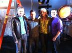 On the set of Life After Film School (FXM): Tyler, Chris Parnell, Sandra, Max