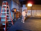 Lights on the set