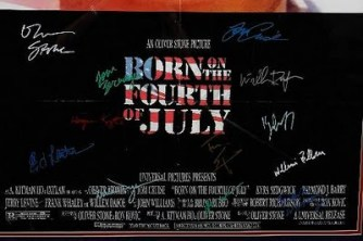 Born on the Fourth of July autographed poster