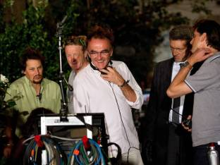 Danny Boyle on the Set of Trance