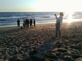 15 The Crew Prepares to Shoot on the Beach