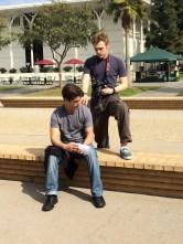 07 Me Filming Erik in Alumni Mall
